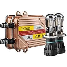 Koyoso H4 12V 50W HID Bi-Xenon Kit de Conversión Faro Vehículo Car Lámpara de Repuesto Inicio Rápido Delgado Balastos Lastre Lámparas Rápido Brillante 6000K