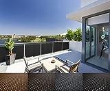 Mayaadi-Home Rattan Balkon und Terrassen-Sichtschutz inkl. Kabelbinder für eine einfache Montage (Meterware) Beige RD08 100cm