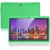 """JEJA 7"""" pouces Tablette PC Google Android 4.2.2, Allwinner A23 DDR3 Dual Core 1.5GHz 512Mo RAM 8Go ROM Dual Caméras WiFi Écran Tactile Capacitif Tablette PC (Vert)"""