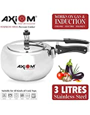 AXIOM Stainless Steel Induction Compatible Pressure Cooker (Handi Shape)