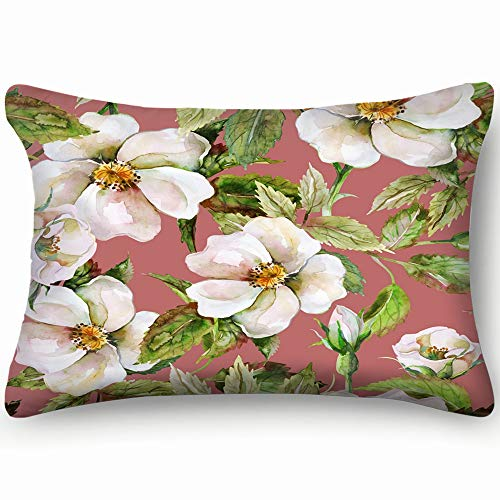 tuyi wild Roses Abstract Flower Abstract Flower Home Decor Wedding Gift Engagement Present Housewarming Gift Cushion Cover 20x30 inch Old Country Roses Garden