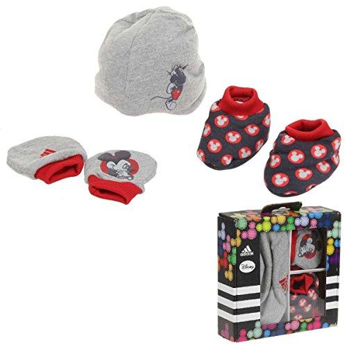 Adidas Infiniti Disney Gift Set Baby Beanie Fäustlinge Babyschuhe Neu Gr.OSFB