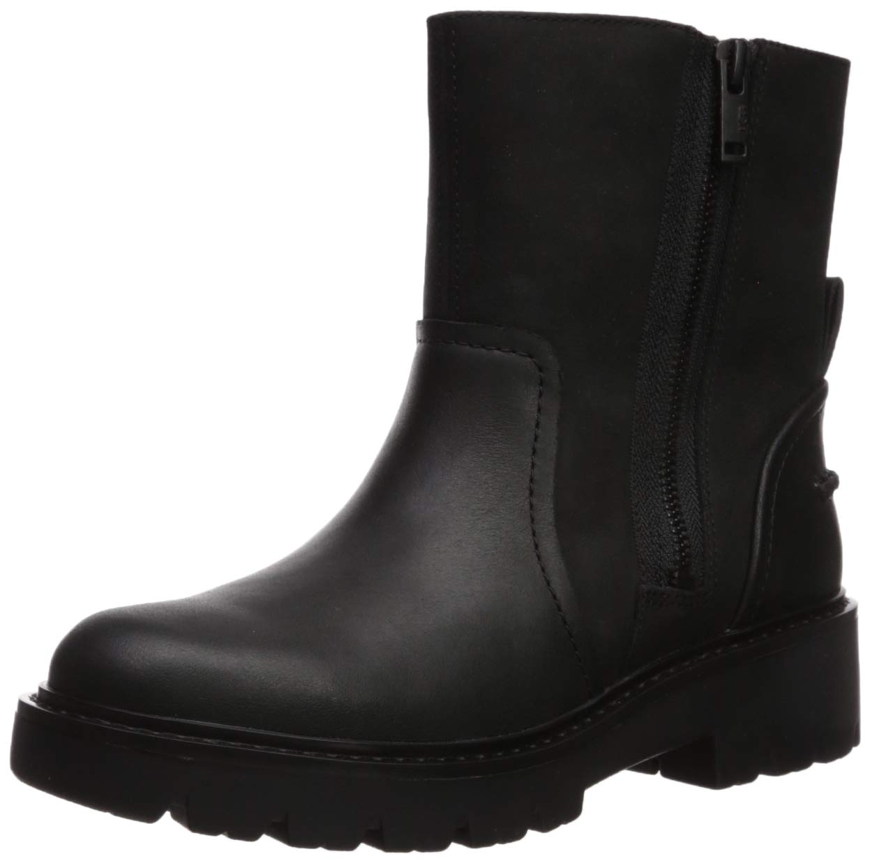 UGG Women's Polk Combat Boot, Black, 7.5 M US 1