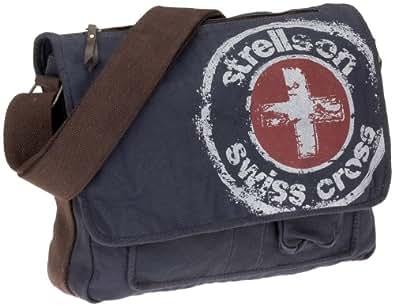 Strellson Logo Line Canvas X-bag medium H 02/81/03011-250, Herren Umhängetasche, blau (blue 250) 39x32x12 cm