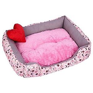 CHENYAJUAN Pet Dog Bed Chaud Doux Coton PP Cave Détachable Mignon Chien Chat Chambres Plush Kennel Nest