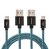 Luxebell® Micro USB Kabel Nylon,Samsung Ladekabel auf Micro USB Daten Synchronisierungs Ladekabel für Android Smartphones, Samsung Galaxy, HTC, Huawei, Sony, Nexus, Nokia, Kindle und mehr
