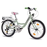 CHRISSON '20pulgadas–Bicicleta infantil con rueda de niña relaxia 2.0con 6velocidades Shimano STVZO Mint verde