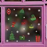 YUYOUG Noël Flocons De Neige Stickers, Noël De Stickers Vitres Decoration de Noël Amovibles Statiques en PVC Noël Magasin Fenêtre Décoration, Rend la Maison Pleine de l'atmosphère de Noël (B)