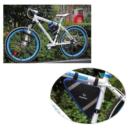 Roswheel Bicycle Bike Bag Front Frame Head Pipe Triangle Bag Storage Pouch 12490 Blau