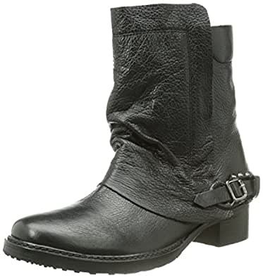 Buffalo London 1000-51 I.M. COW THIN, Damen Biker Boots, Schwarz (BLACK 01), 41 EU (8 Damen UK)