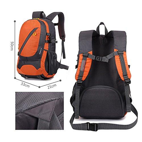 F.Dorla 30 Liter Unisex Rucksack Trekking Outdoor Rucksack-Tasche, wasserdicht, für Camping, Trekking, Orange - orange