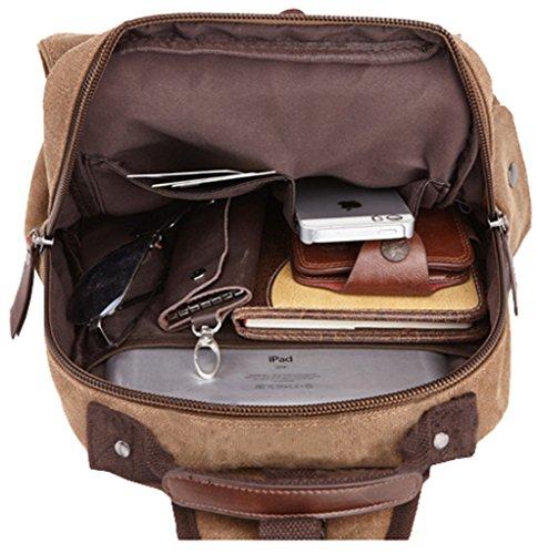Unisex Leinwand Travel Vintage Modern Schulranzen Rucksack ein Super Schwarz Tasche Rucksack Wandern qtBE1n6