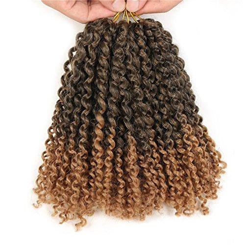 Lot de 3 extensions de cheveux synthétiques - 20 cm - Cheveux frisés, afro, bouclés