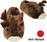 alles-meine.de GmbH Hausschuhe / Pantoffel -  Elch - Rentier - Hirsch  - Größe Gr. 36 - 37 - 38 ..