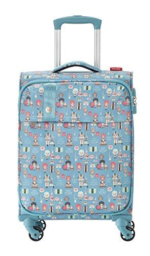 Travelite Lil'Ledy Buntes Reisegepäck/Rucksack/Kindertrolley/Bordtrolley/Handtasche/Reisekoffer, Weichschale, Hartschale, in Kawaii Optik, 55 cm, 37 l, türkis