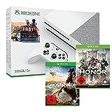 Xbox One S 500 GB Konsole - Battlefield 1 Bundle + Tom Clancy's: Ghost Recon Wildlands + For Honor