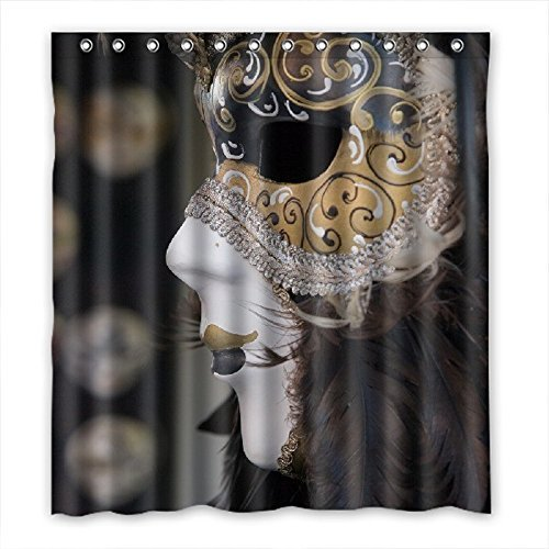 Doubee personalizzato Carnevale poliestere impermeabile doccia tenda 167cm x 183cm, Poliestere, D,