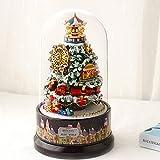 BeesClover Weihnachtskugel, Schneeball, Spieluhr, Puppenhaus, rotierender Hüttenglanz für Kinder, Mädchen, Weihnachten, Geburtstag, Geschenk B-030