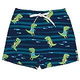 Vogseek Estate Bambino Ragazzo dei Bambini Costumi da Bagno Stampa Dinosauro Estate Costume da Bagno da Spiaggia Pantaloni Corti da Bagno, Neri