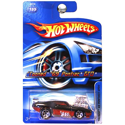 2006 Hot Wheels Tooned 69 Pontiac Gto Card #155 1:64 Scale by Hot Wheels (Hot Wheels Gto)