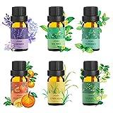 Ato Bea diffuseur huile essentielle 100% Pure huiles essentielles bio 10ml*6 Orange,...