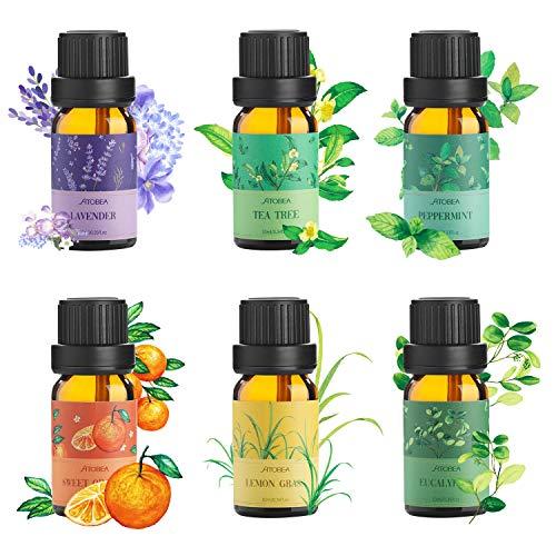 Aceite Esencial Puros,Ato Bea 6 * 10ml 100% Aceites Esenciales Naturales Lavanda, Hierba de Limón...
