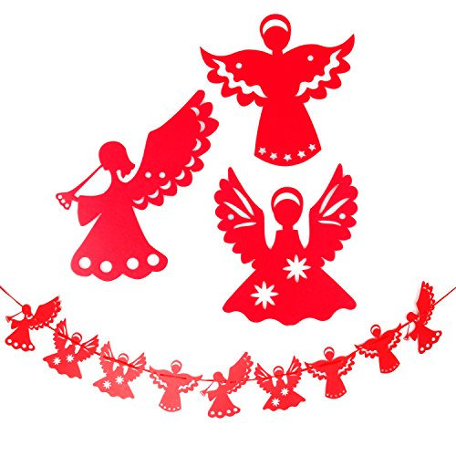 TRIXES - Guirnalda con ángeles rojas de