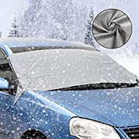 Cubierta de parabrisas para parabrisas de invierno con cubierta para parabrisas y protección contra los rayos UV, antinieve