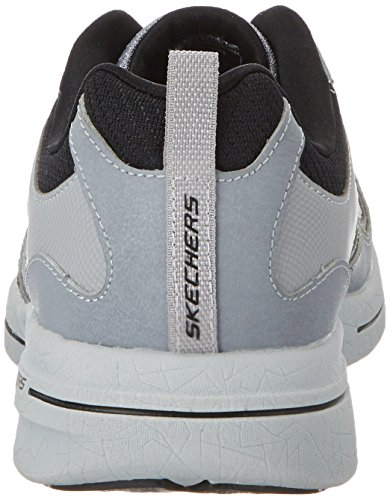 Skechers Qtr Overlay Lace Up W/Air-Coo, Scarpe Sportive Outdoor Uomo Grigio (lgbk)