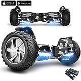 Self Balance Scooter Mega Motion X-strong - Hummer fuoristrada con ruote 8.5 '- E-Skateboard - Motore 700W (Camuffamento)