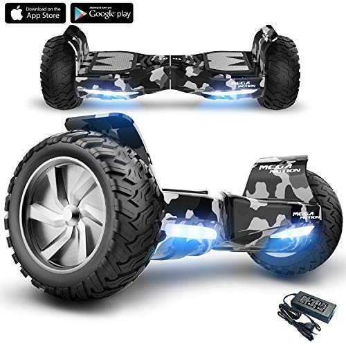 """Mega Motion X-strong -8.5 """" Off- Road Hummer -E-Board Hover - 700W Motor-3 Driving Modes App Bluetooth Speakers All-road Segway - Hammer SUV(Camouflage)"""