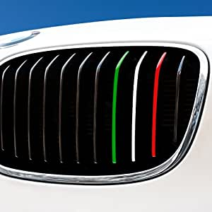 Motoking Nierenaufkleber ITALIEN – Grün/Weiß/Rot – REFLEKTIEREND für alle BMW Modelle