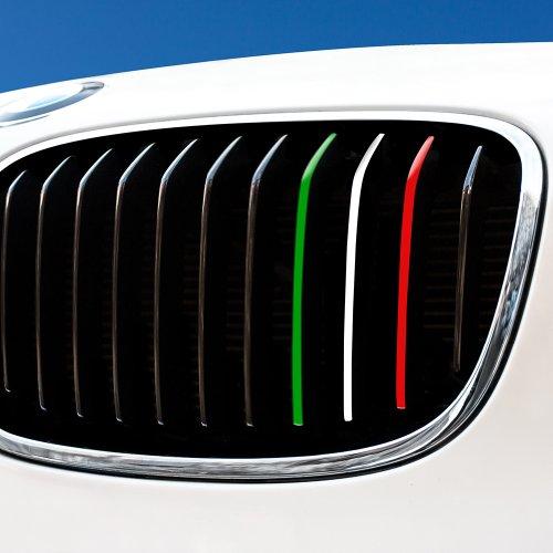 Motoking Nierenaufkleber ITALIEN - Grün/Weiß/Rot - REFLEKTIEREND für alle BMW Modelle