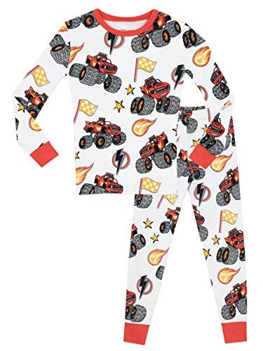 Blaze and the monster machines - pigiama a maniche lunga per ragazzi di - vestibilita stretta - 5 - 6 anni