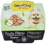 GimDog Futter – Little Darling Fruity Menu Ragout mit Truthahn, Apfel und Gemüse – Für Hunde bis 10 kg – Natürliches Hundefutter ohne künstliche Aromen & Farbstoffe – Hundenassfutter 800g (8 x 100g)