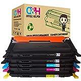 OFFICE HELPER CLT-K406S Compatible Toner Cartridge per Samsung CLP-360 CLP-360N CLP-365 CLP-365W CLP-368 CLX-3300 CLX-3305 CLX-3305FN CLX-3305N CLX-3305W CLX-3305FW Xpress C410W C460W C460FW C467W (2Nero, Ciano, Magenta, Giallo)
