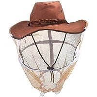 Voile d'apiculture, ABEDOE Anti-moustique Abeille Insectes Mouche Masque Cap Chapeau Protection du visage en plein air