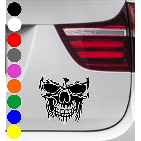 Wdesigns 2er Set Autoaufkleber Totenkopf Skelett Skull SchÄdel Aufkleber Tuning Decal Auto
