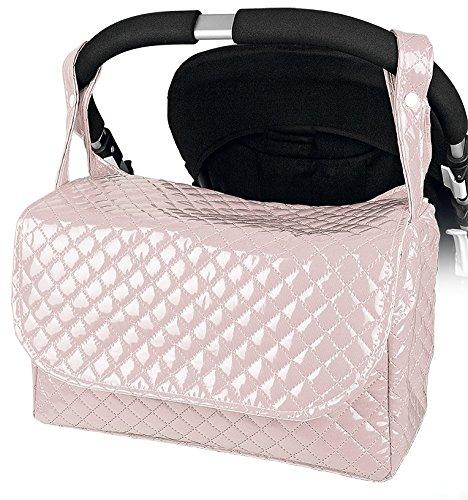 """Bolso Carrito Bebe Maternidad Lactancia Plastificado """" Danielstore """" Color rosa"""