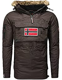 Geographical Norway-Chaqueta deportiva de invierno bronson boy, color marrón