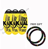 Maybelline Colossal Kajal 12H Black Pack of 3 - With FREE GIFT Pair of Multicolor Bangles by Maybelline