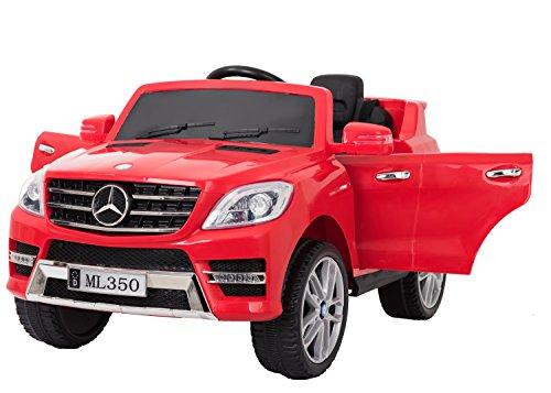 Mercedes ML350 Licenciado 12v Coche eléctrico niños a batería - Rojo