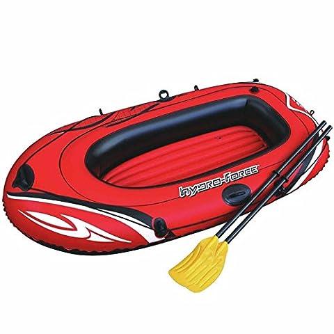 Hydro Force gonflable en caoutchouc Vinyle voilier Bateau 1personne et piscine gonflable Pagaie rames de transport facile et de stockage et 157,5x 101,6cm–Rouge