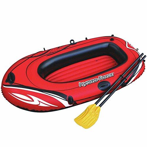 Hydro Force aufblasbarer Gummi Vinyl bootsklasse Boot 1Person Pool Raft Paddle Oars Set Einfaches verstauen und Transport 157,5x 101,6cm–Rot