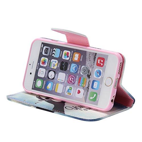 PU für Apple iPhone 6 (4.7 Zoll) Hülle,Farbe geprägt Geprägte Handyhülle / Tasche / Cover / Case für das Apple iPhone 6 (4.7 Zoll) PU Leder Flip Cover Leder Hülle Kunstleder Folio Schutzhülle Wallet T 2