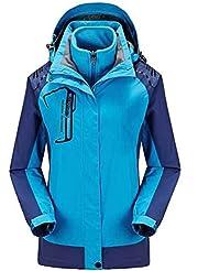 HHORD Veste de deux pièces amovibles Windproof isolation respirante extérieure alpinisme couple modèles Soft Shell vestes 3 en 1 , xl