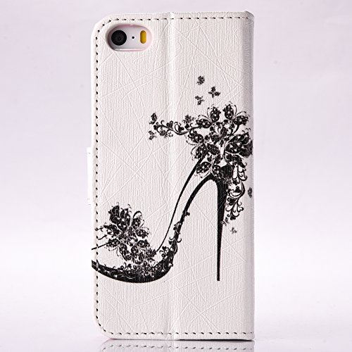 Cover iphone 6 / 6S, Custodia in Pelle Verniciata Cristallo Bling Strass Cover DIY 3D Diamante, Alfort Cover Protettiva Premium Goffrata PU di alta qualità Flip Case Cover per iphone 6 / 6S 4.7 Smart Tacchi Alti
