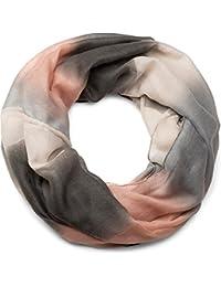 styleBREAKER Loop Schlauchschal mit Streifen Farbverlauf Muster, Unisex 01018097