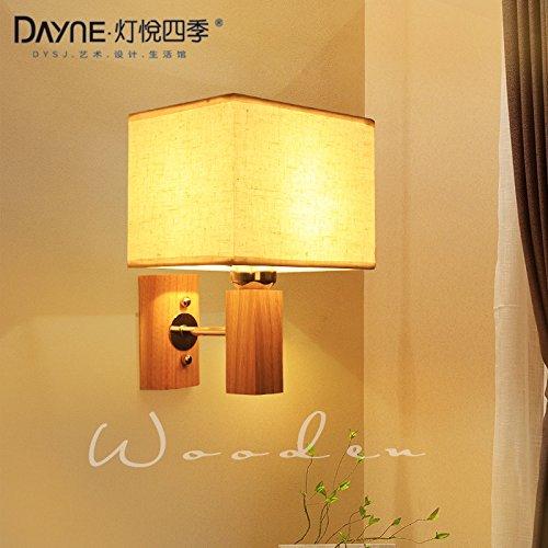 Weiße Holz-schlafzimmer-kopfteil (YYHAOGE Die Schlafzimmer Verfügen Über Wohnzimmer, Flur Wände Und Stilvolle Kopfteil Aus Holz Wandleuchten, Von + Weißem Led-Lichtquellen, Druckschalter)