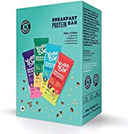 Yogabar Breakfast Protein Variety (Almond Coconut, Apricot & Fig, Blueberry, Apple Cinnamon Bars - 300gm,